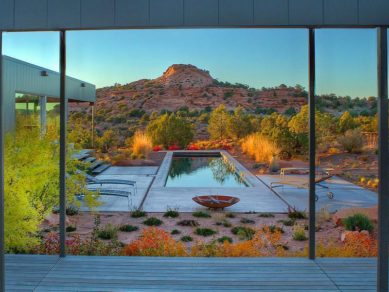 Terrace & Outdoor Pool, Hidden Valley House, Utah by Marmol Radziner