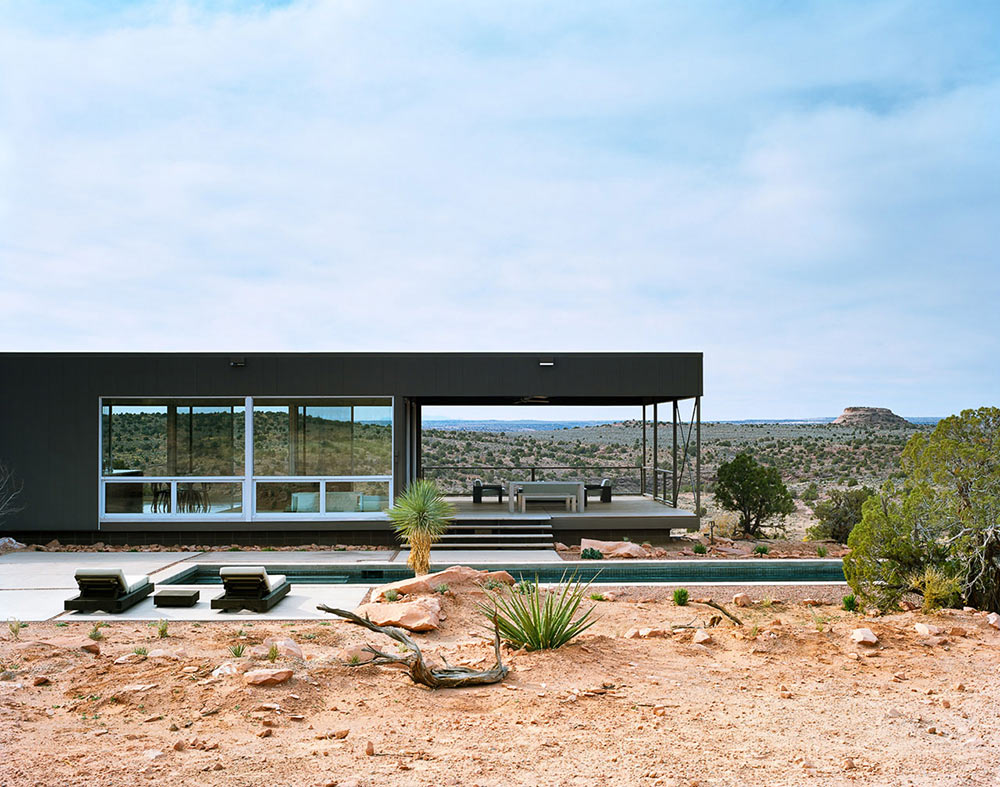 Pool, View, Hidden Valley House, Utah by Marmol Radziner