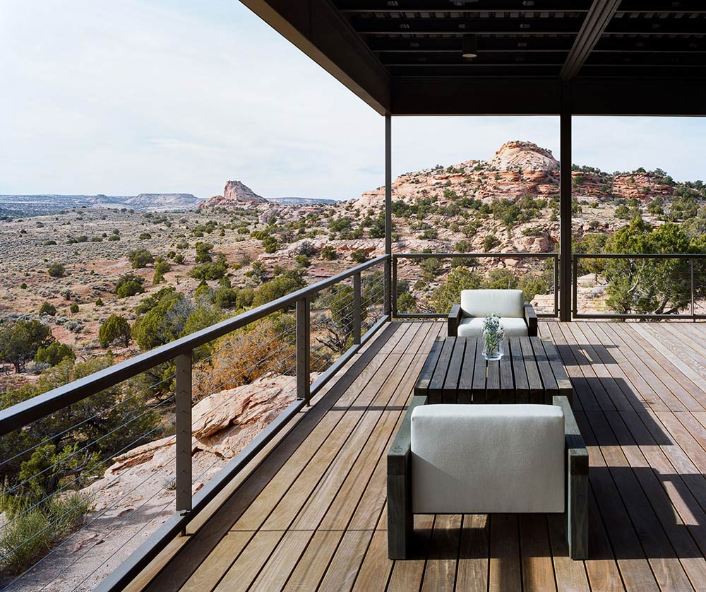 Terrace, Hidden Valley House, Utah by Marmol Radziner