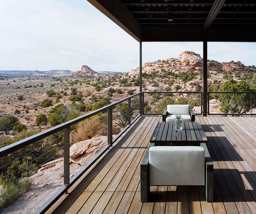 Terrace, Hidden Valley House, Utah by Marmol Radziner