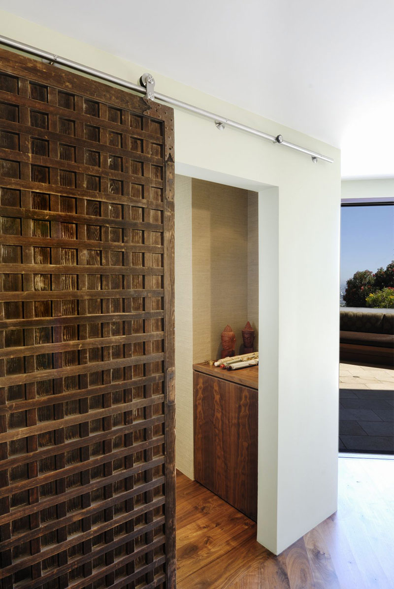 Bathroom Door, Hollywood Hills Residence by fer Studio