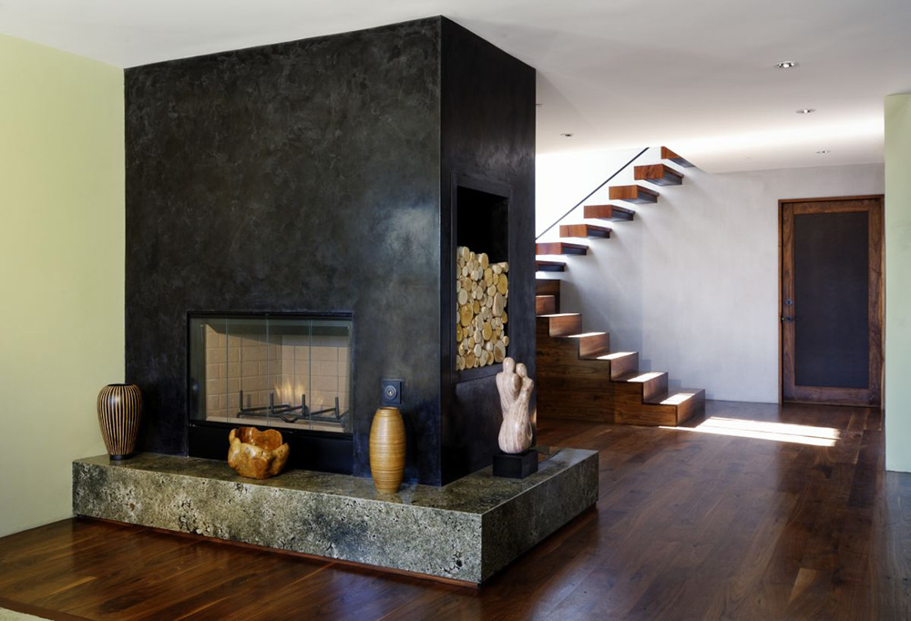 Contemporary Fireplace, Hollywood Hills Residence by fer Studio