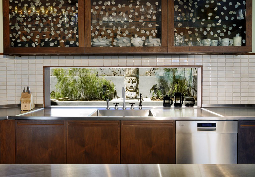 Kitchen Detail, Contemporary Lighting, Hollywood Hills Residence by fer Studio