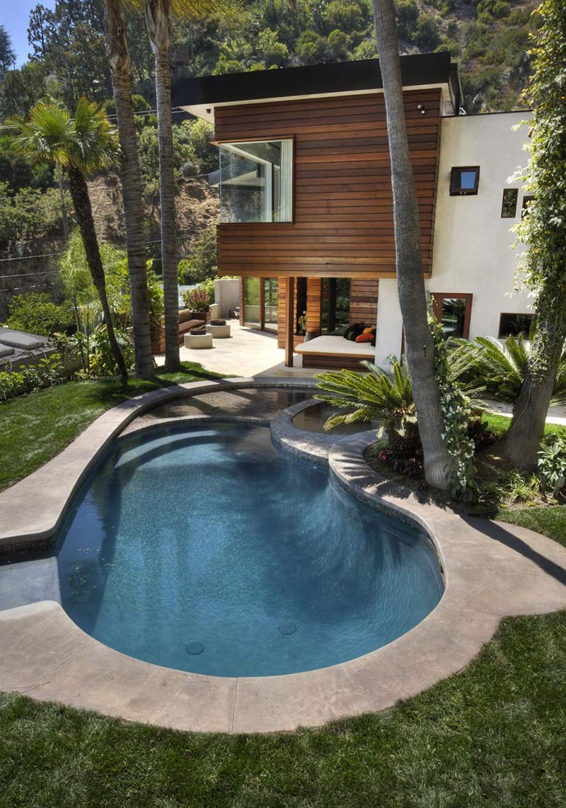 Swimming Pool, Hollywood Hills Residence by fer Studio