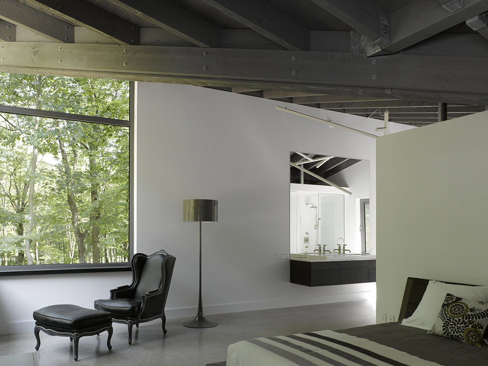 Bedroom, Maison de Bromont, Quebec, Canada by Paul Bernier