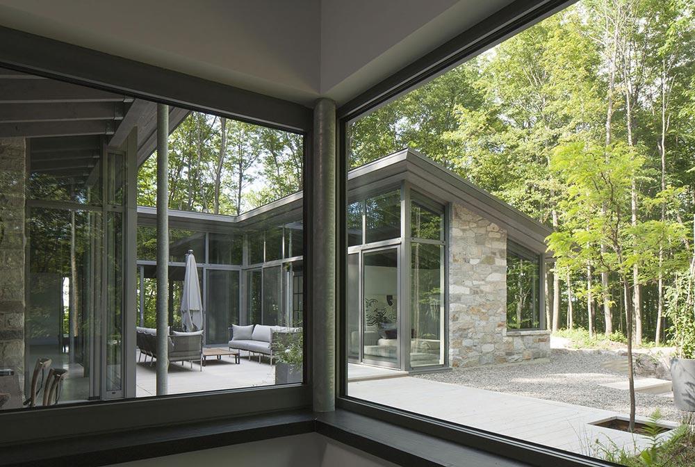 Glass Walls, Maison de Bromont, Quebec, Canada by Paul Bernier