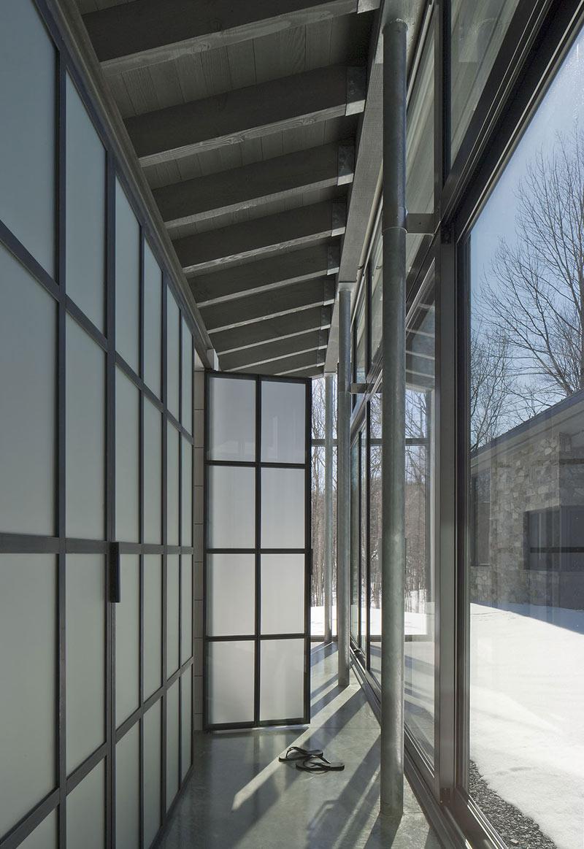 Hall, Maison de Bromont, Quebec, Canada by Paul Bernier