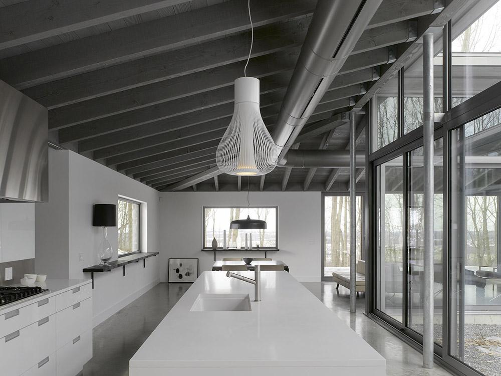 Kitchen, Maison de Bromont, Quebec, Canada by Paul Bernier