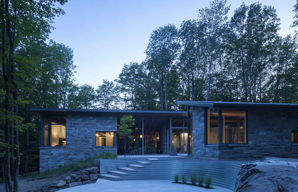 Evening, Maison de Bromont, Quebec, Canada by Paul Bernier