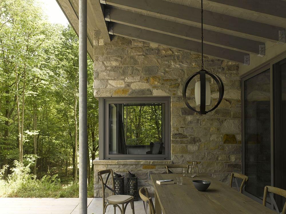 Outdoor Dining, Maison de Bromont, Quebec, Canada by Paul Bernier