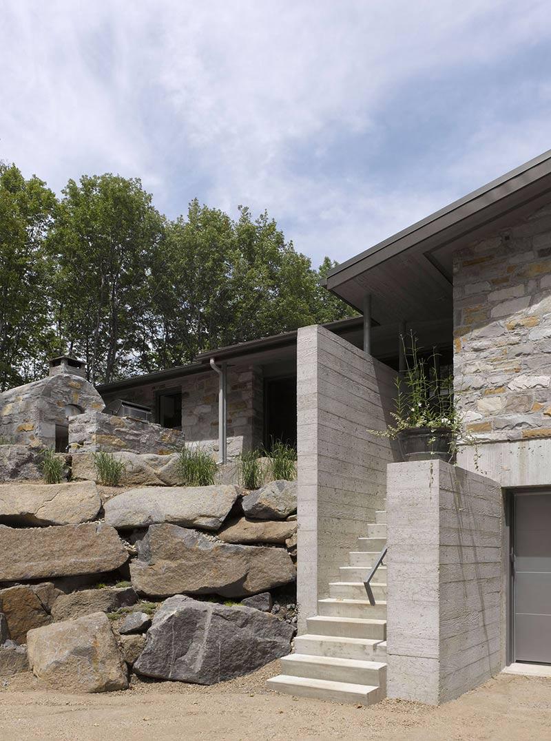 Stairs, Maison de Bromont, Quebec, Canada by Paul Bernier