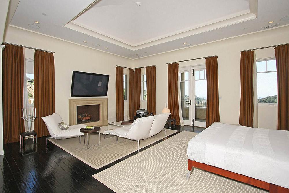 Bedroom, Beautiful Mediterranean Home Beverly Hills