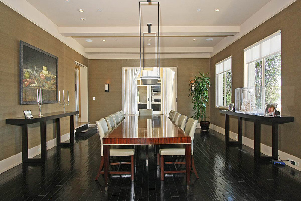 Dining Room, Beautiful Mediterranean Home Beverly Hills