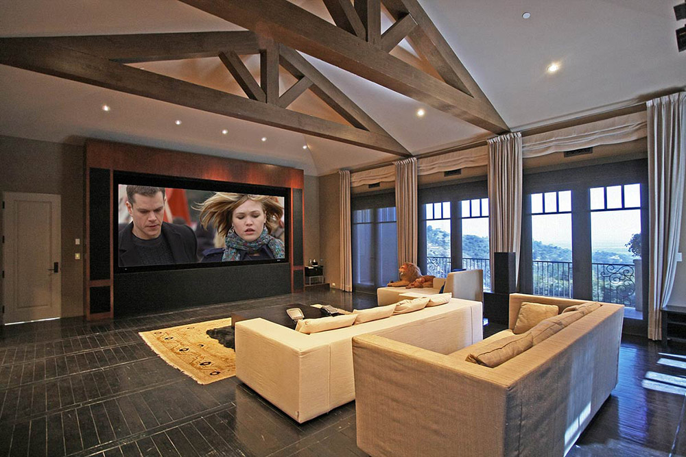 Home Cinema, Beautiful Mediterranean Home Beverly Hills