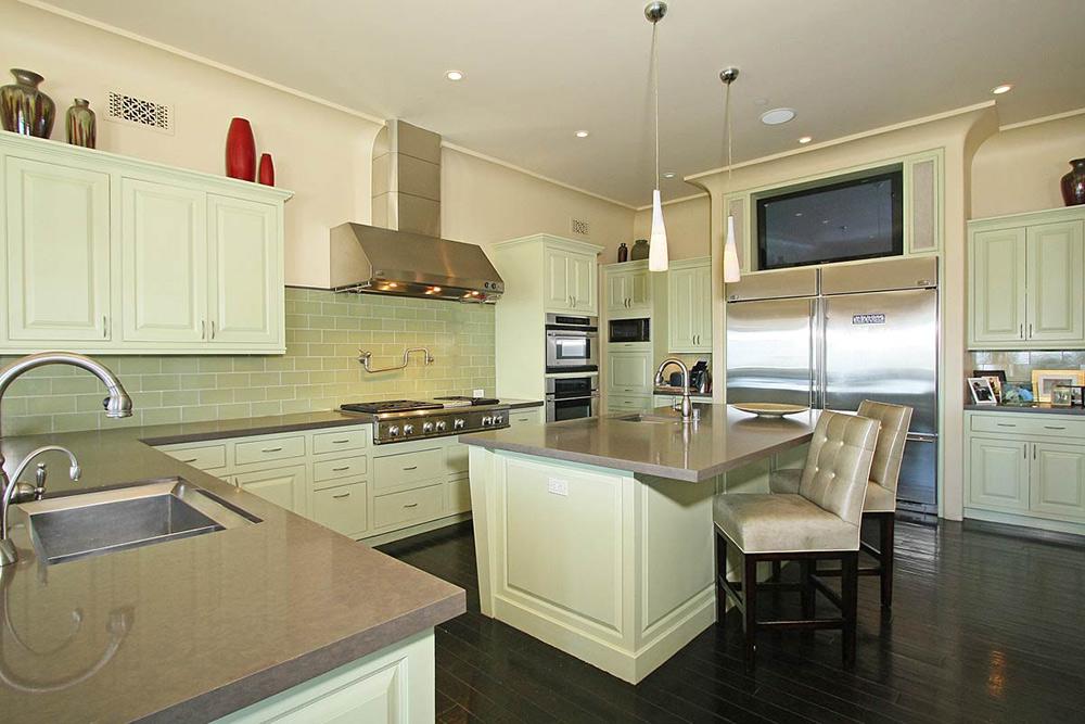 Kitchen, Beautiful Mediterranean Home Beverly Hills