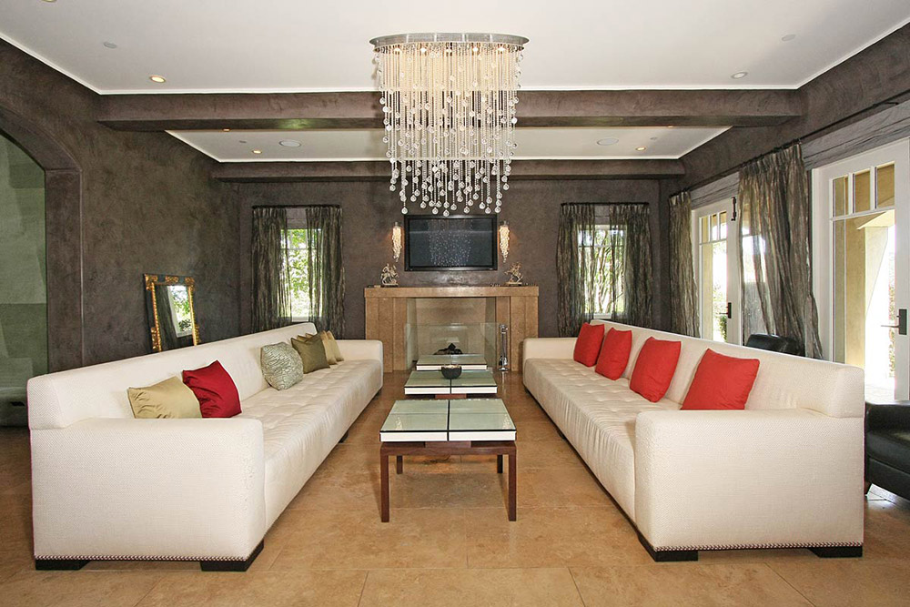 Living Space, Beautiful Mediterranean Home Beverly Hills