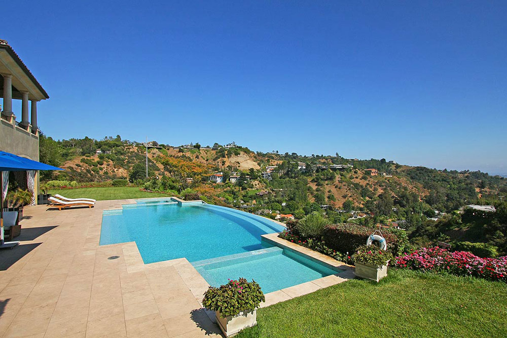 Terrace amp Pool Beautiful Mediterranean Home Beverly Hills