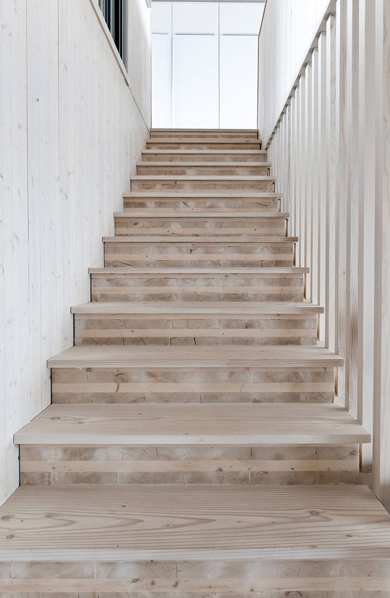 Wooden Staircase, Northface House, Norway by Element Arkitekter AS