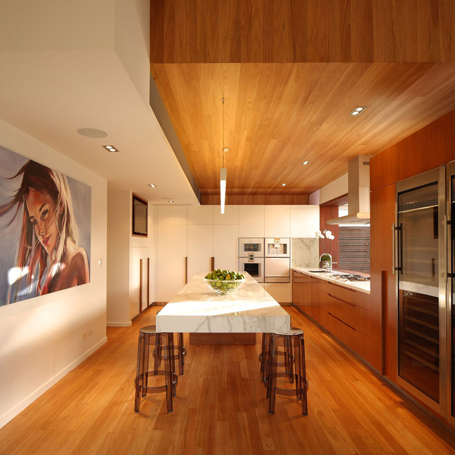 Kichen, Breakfast Table, Park House, Queensland, Australia by Shaun Lockyer Architects