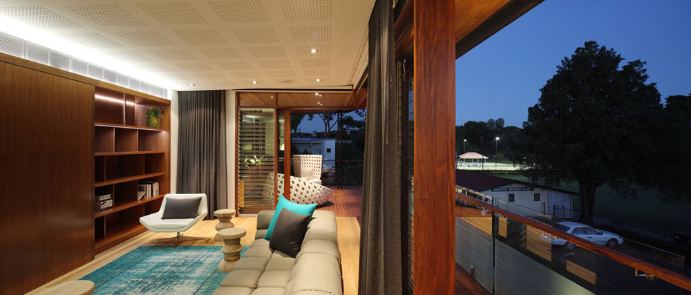 Living Space, Balcony, Park House, Queensland, Australia by Shaun Lockyer Architects