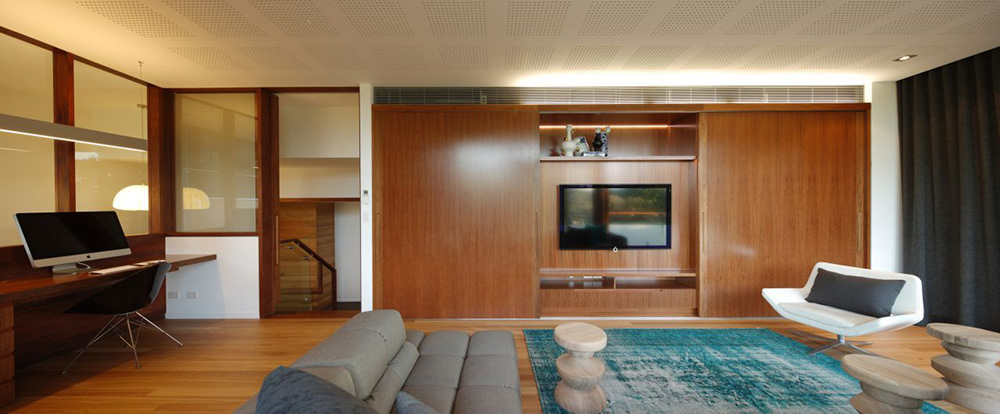 Living Space & Office, Park House, Queensland, Australia by Shaun Lockyer Architects