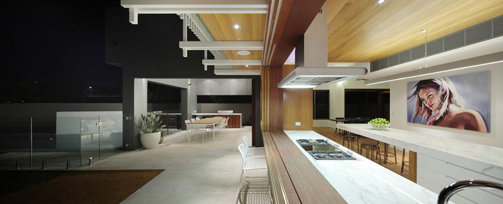 Open Kitchen, Park House, Queensland, Australia by Shaun Lockyer Architects