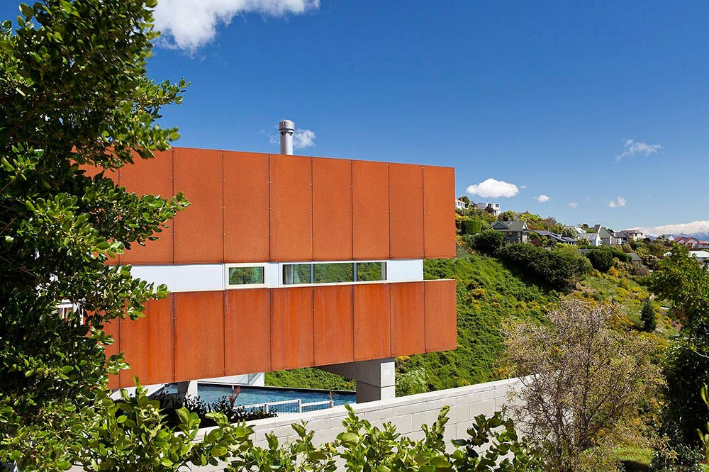 View, Redcliffs House, Christchurch, New Zealand by MAP Architects