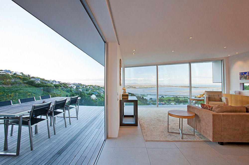 Living Space, Outdoor Dining, Redcliffs House, Christchurch, New Zealand by MAP Architects