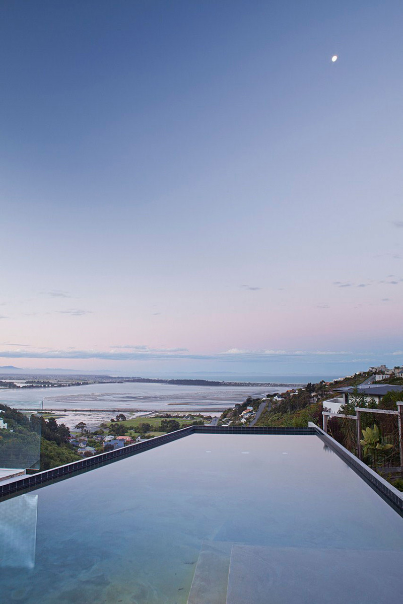 Swimmng Pool, Amazing Views, Redcliffs House, Christchurch, New Zealand by MAP Architects