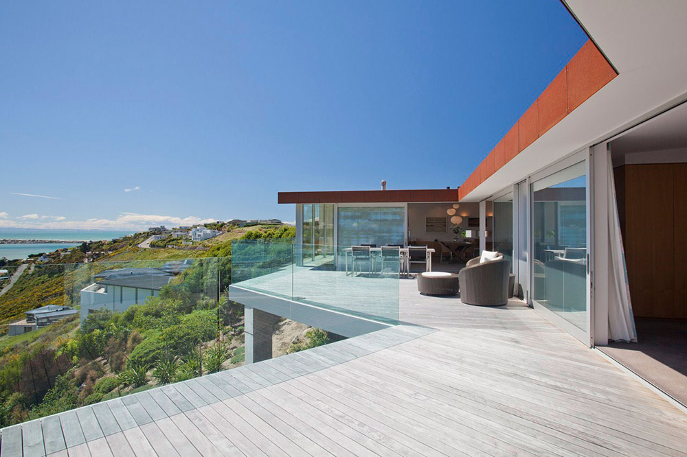 Terrace view redcliffs house christchurch new zealand for Modern new zealand homes