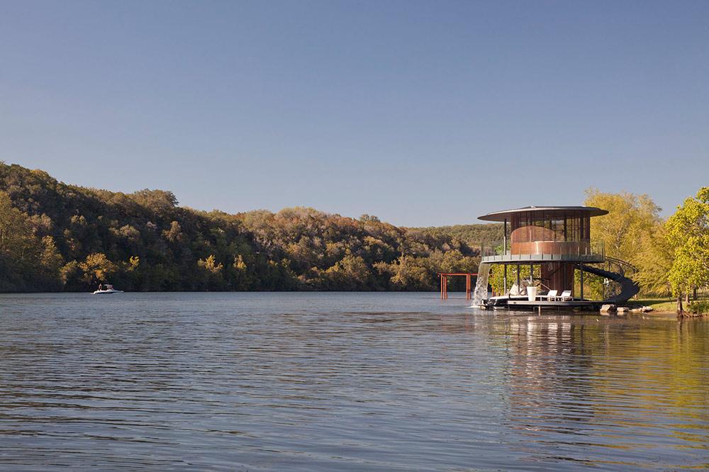 Shore Vista Boat Dock, Lake Austin, Texas by Bercy Chen Studio