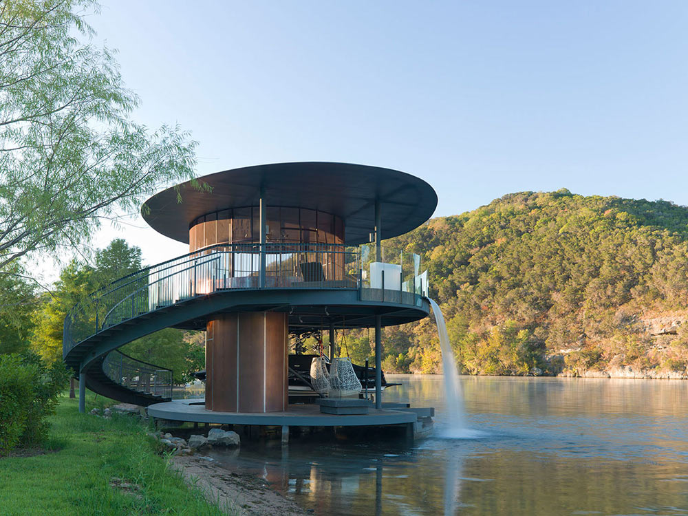 Shore vista boat house lake austin texas by bercy chen for Austin house