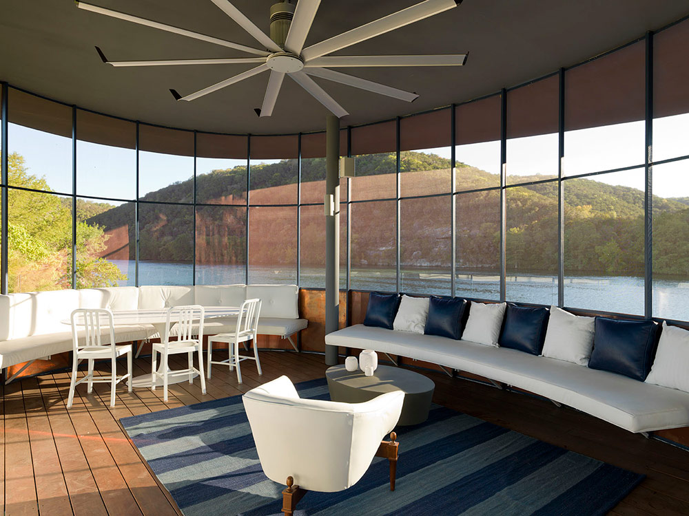 Living Space, Shore Vista Boat Dock, Lake Austin, Texas by Bercy Chen Studio