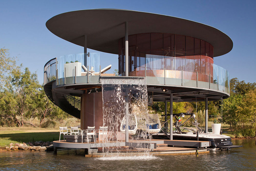 Shore Vista Boat Dock, Lake Austin, Texas by Bercy Chen Studio
