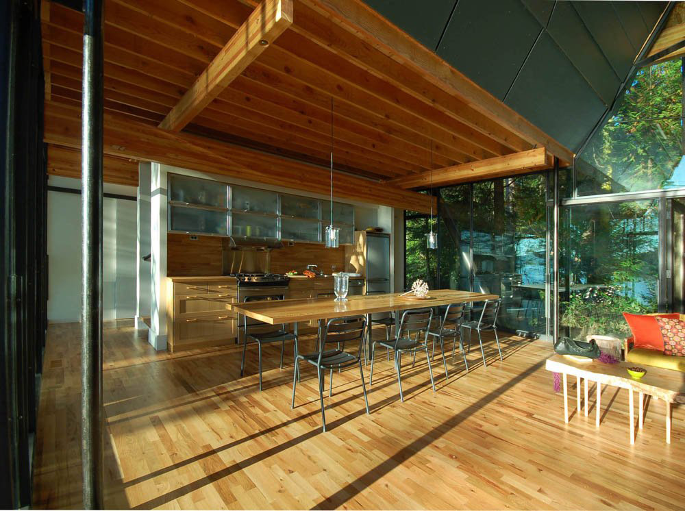 Kitchen, Dining, Open Plan, Sneeoosh Cabin, Washington by Zeroplus Architects
