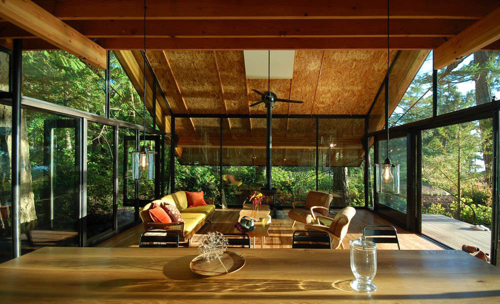 Open Plan, Sneeoosh Cabin, Washington by Zeroplus Architects