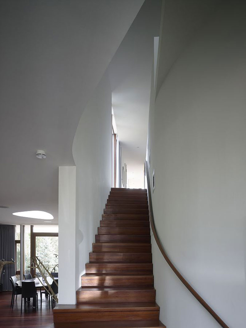 Staircase, Villa Nefkens, Netherlands by Mecanoo Architects