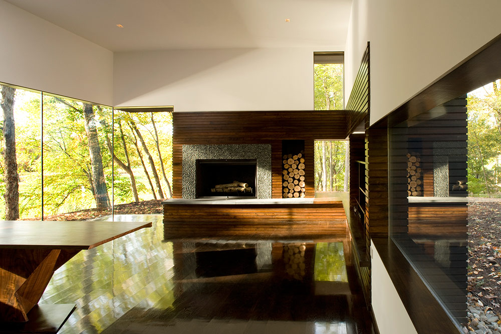 Contemporary Fireplace, Writer's Studio, New York by Cooper Joseph Studio