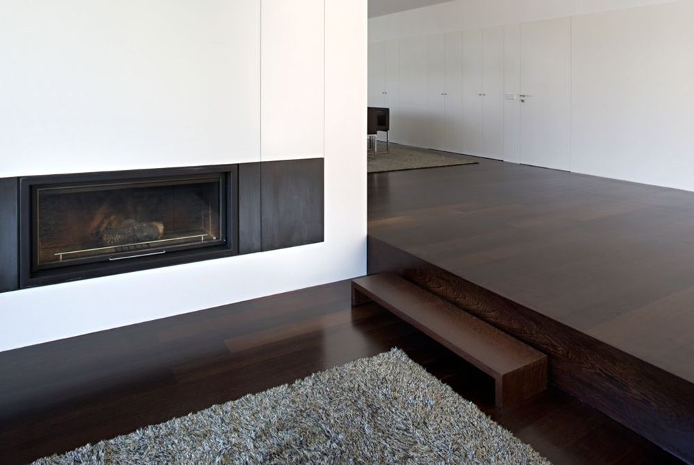 Contemporary Fireplace, CS House Portugal by Pitagoras Arquitectos