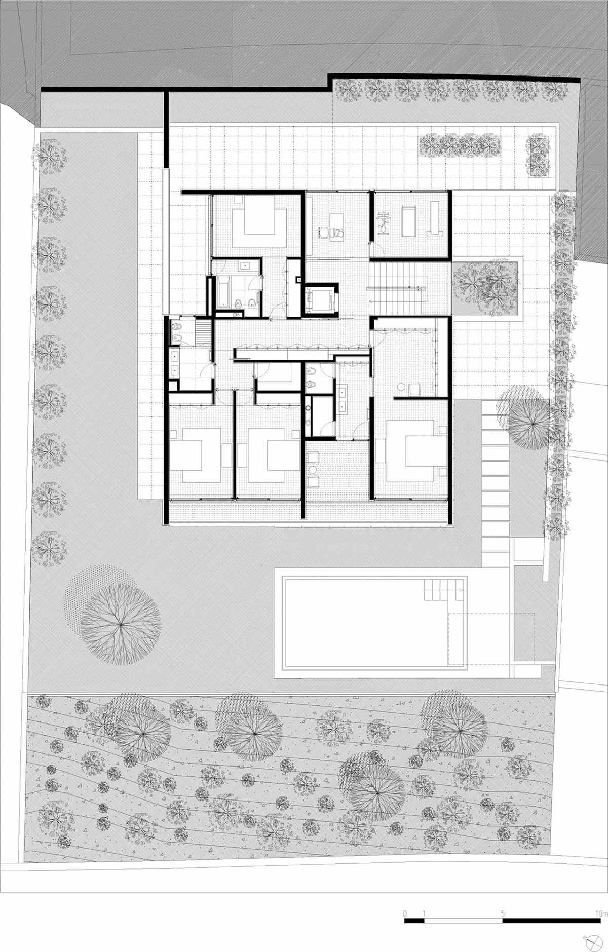 First Floor Plan, CS House Portugal by Pitagoras Arquitectos