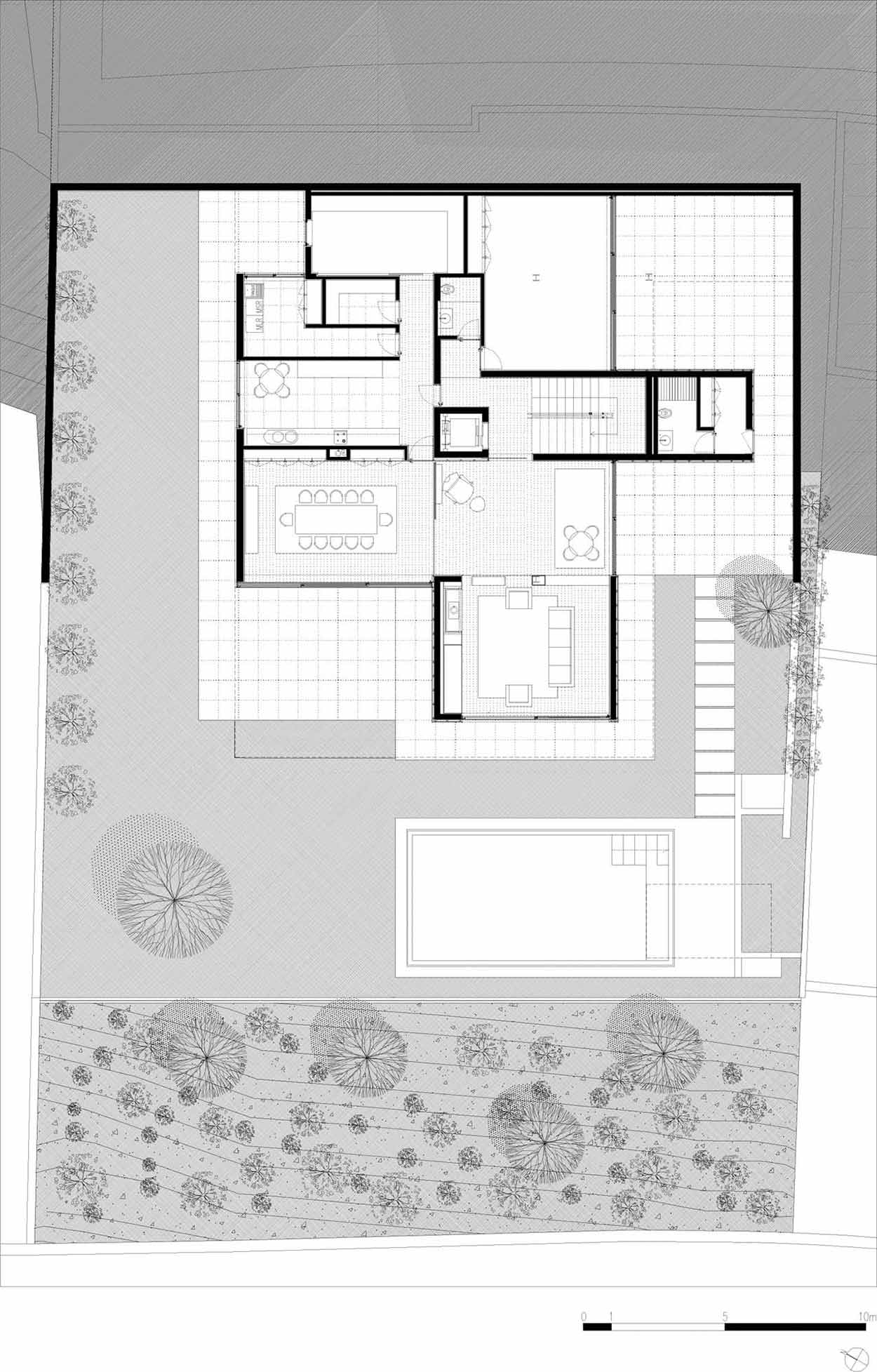 Ground Floor Plan, CS House Portugal by Pitagoras Arquitectos