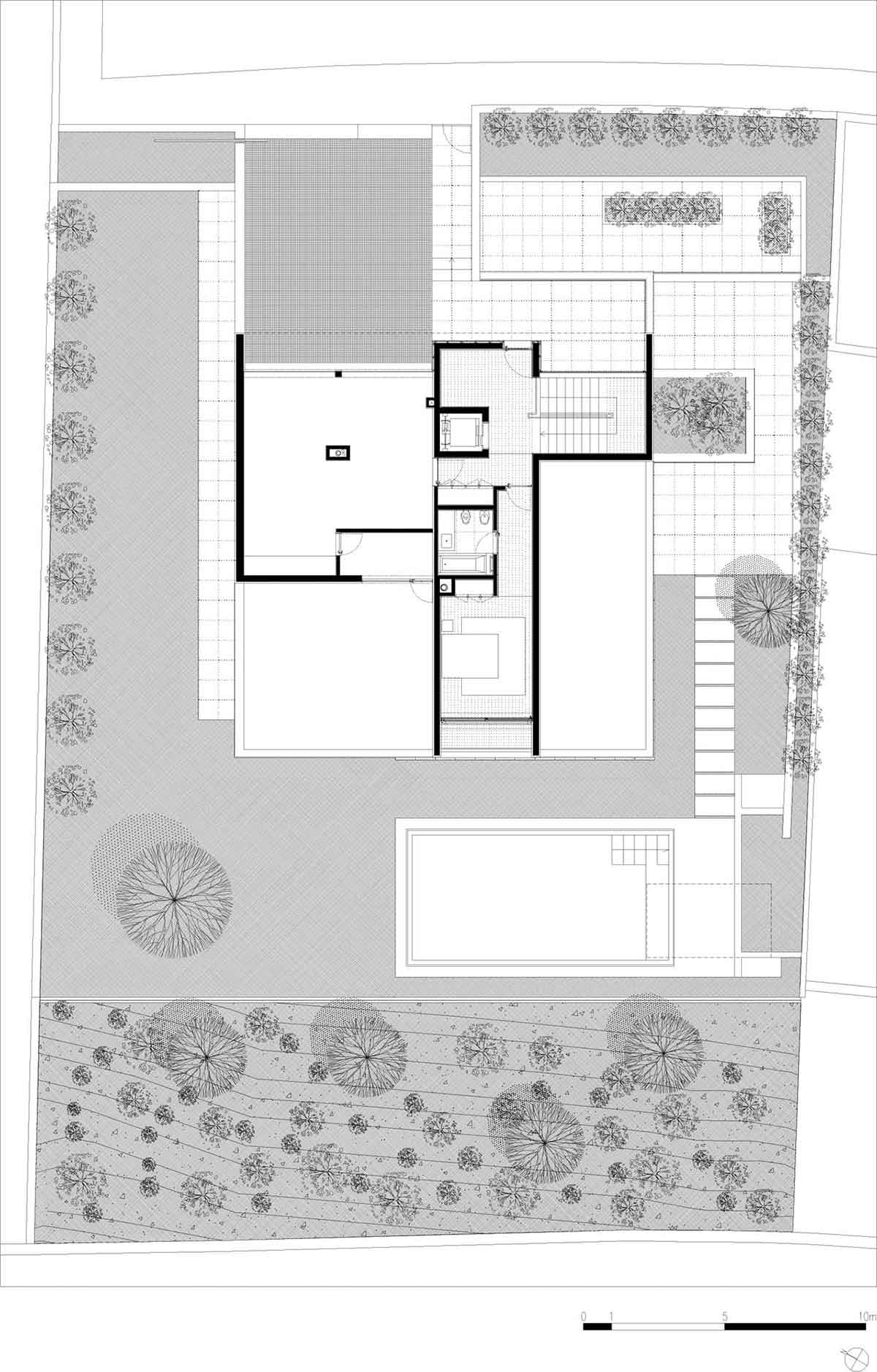 Second Floor Plan, CS House Portugal by Pitagoras Arquitectos