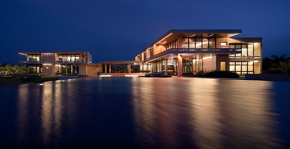 Evening, Pool, Lighting, Casa Kimball, Dominican Republic by Rangr Studio