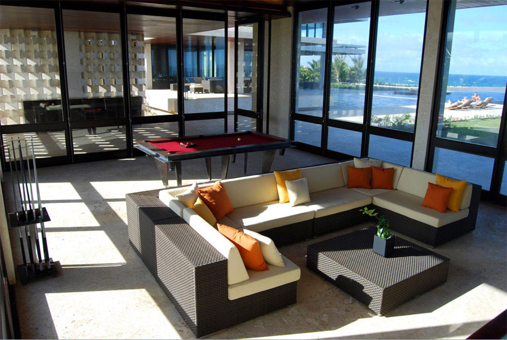 Living Space, Pool Table, Casa Kimball, Dominican Republic by Rangr Studio