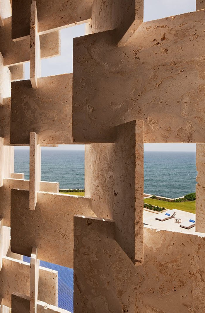 Wall Detail, Casa Kimball, Dominican Republic by Rangr Studio