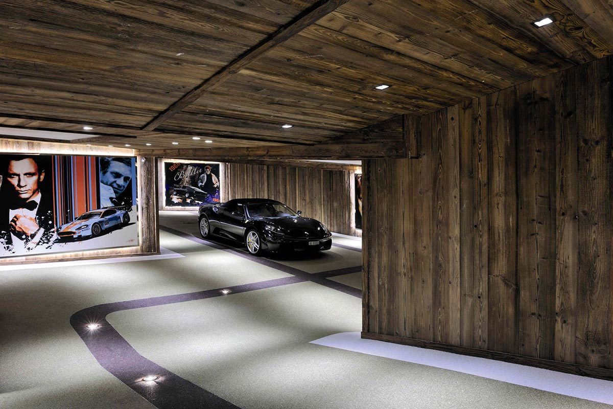 Car Room, Ferrari, Chalet Brikell, Rhone-Alpes by Pure Concept