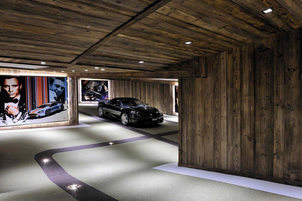 Car Room, Ferrari, Chalet Brikell, Rhone-Alpes by Pure Concept