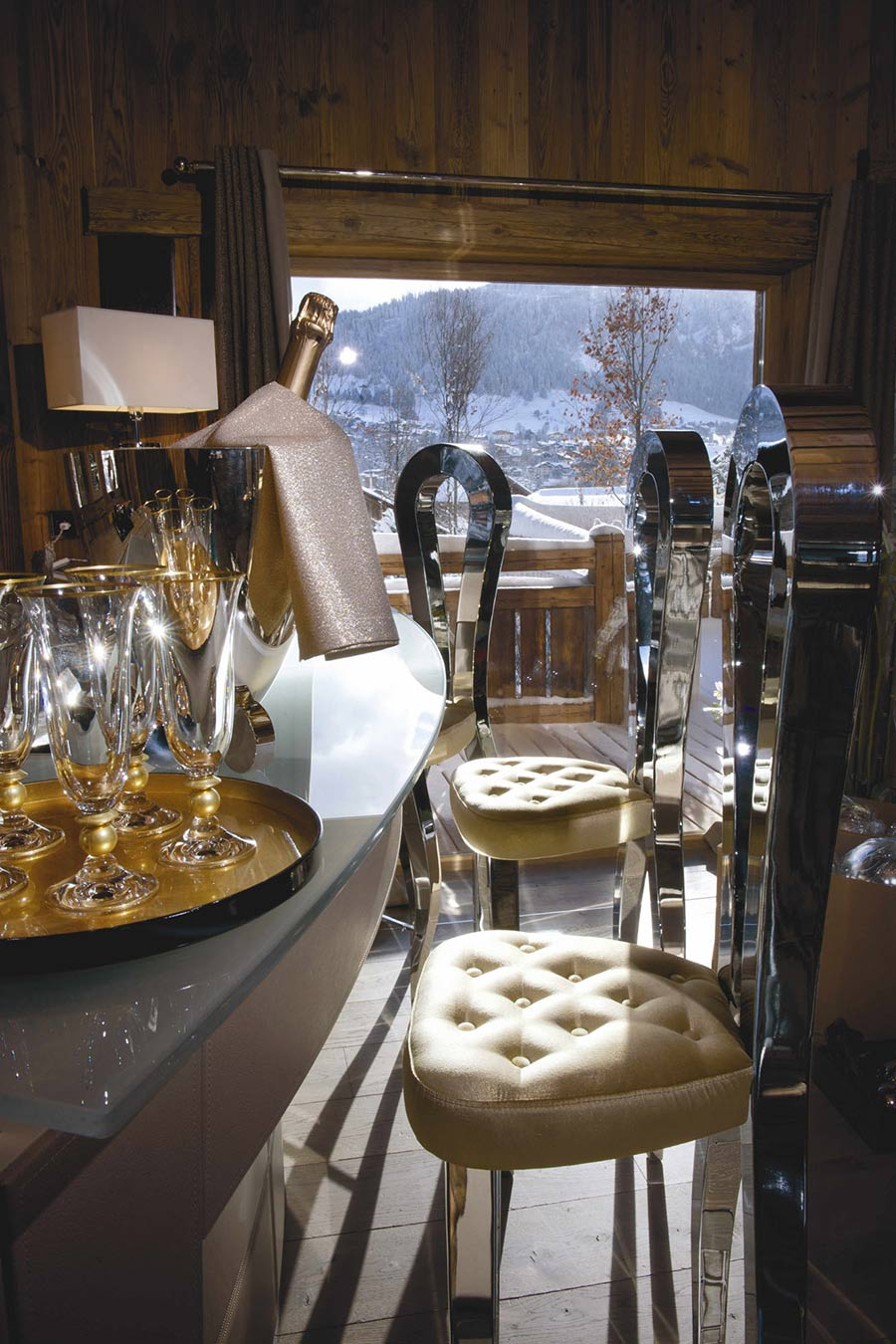 Dining Table, Chairs, Chalet Brikell, Rhone-Alpes by Pure Concept