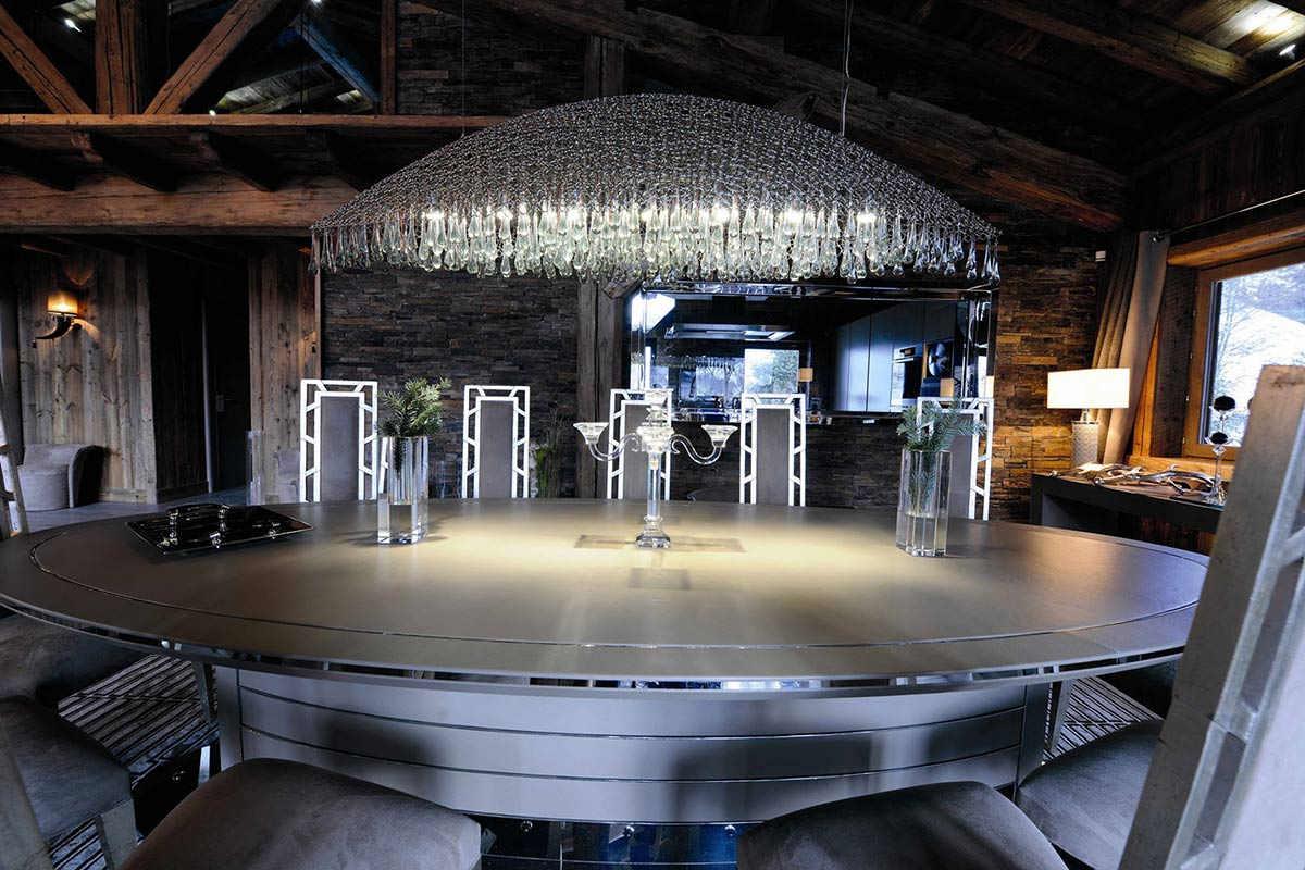 Dining Table, Lighting, Chalet Brikell, Rhone-Alpes by Pure Concept