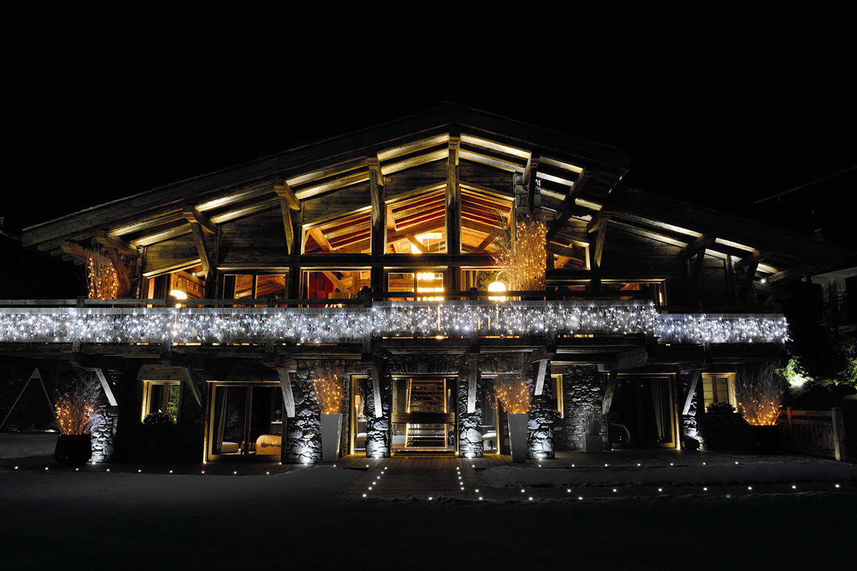Evening Lights, Chalet Brikell, Rhone-Alpes by Pure Concept